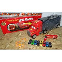 Caminhão Mack Mcqueen,com 9 Carrinhos