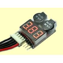 Testedor Alarme Baixa Voltagem Monitor Baterias Lipo 1s-8s