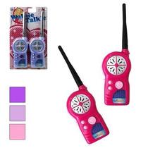 Rádio Walk Talk (walkie Talkie) Infantil Rosa Frete Gratis