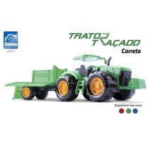 Trator Traçado Carreta 371 - Roma Brinquedos
