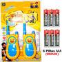 Walk Talk Infantil Minions + Baterias Brinde