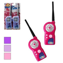 Rádio Walk Talk (walkie Talkie) Infantil Rosa
