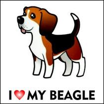 Adesivo De Beagle - I Love My Beagle