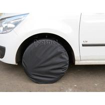 Capa Protetora De Pneu Roda 60cm Anti Xixi Impermeável Preta