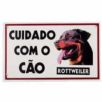 Placa De Advertência Caes - Cuidado Com O Cão Rottweiler