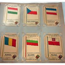 Estampas Eucalol Série Nº11 - Bandeiras Da Europa - Completa