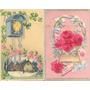 Cartão Postal 02 Temático Floral Em Alto Relevo
