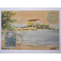 Postal Antigo Forte De Santa Maria Salvador Bahia