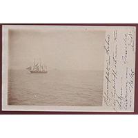 Cartão Postal Foto Postal Navio Veleiro 1905