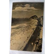 Cartão Postal Fotografia Antiga Copacabana Rio De Janeiro