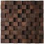 Mosaico De Madeira Em Tela Pronto Para Instalar/peça 30x30cm