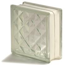 Bloco Vidro Incolor Modelo Diamante Med.19 X 19 X 8cm