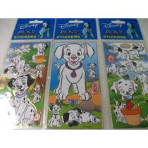 101 Dalmatas Kit Cartela Adesivo Stickers C/ 12 Cartelas