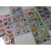 Gatos Kit Cartela Adesivo Stickers C/ 12 Cartelas