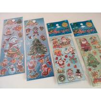 Natal Papai Noel - Kit Com 12 Cartelas De Adesivos Stickers