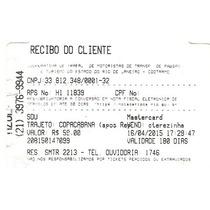 Ticket Usado De Taxi Especial Do Rio De Janeiro 2015.
