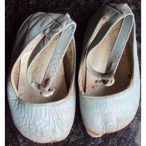 Sapato Bebe Antigo - Década De 60 - Y