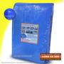 Lona Azul Chuva Cobertura Reforçada Tenda Galpão Telhado 8x8