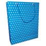 Sacola De Papel Azul Poá Branca 21 X 17 Cm (pct C/ 20 Unid)