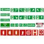 Placa Sinalização Emergência - Rota Frete Grátis