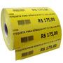 Etiquetas Para Gôndolas (testeira) Amarelas 105mm L X 30mm A