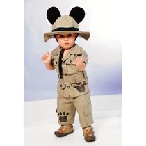 Fantasia Safari Mickey Completa - Frete Gratiz