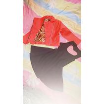 Kit Infantil 1 Vestido + 2 Jaquetas Couro Sintético
