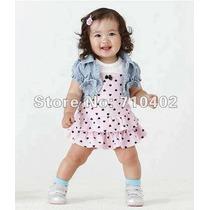 Conjunto Infantil Importado Blusinha + Vestido 2 Anos