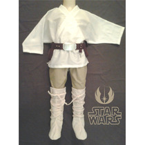 Fantasia Luke Skywalker Jedi Star Wars Infantil Completa