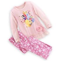 Disney Store Pijama Princesas Branca De Neve Cinderela 7/8