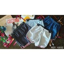 Kit 10 Shorts Tactel Infantil Feminino.