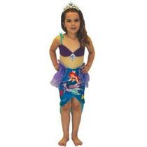 Fantasia Princesa Disney - Ariel - Luxo Slp - Pp.