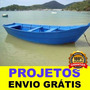 Projeto Fazer Barcos Canoa Com Fundo Em V Frete Grátis