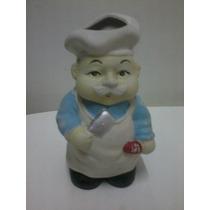 Boneco Cozinheiro Porta Utensílios Porcelana