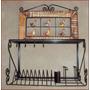 Paneleiro De Ferro Com Galinhas Caipiras