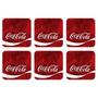 Jogo Com 6 Porta Copos Coca Cola Quadrados
