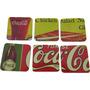 Jogo Com 6 Porta Copos Coca Cola Quadrados Retrô