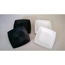 Pratos Plástico Quadrado Grande Rígido Varias Cores
