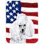 Branco Poodle Toy Com A American Flag Eua Vidro Tábua De Ta