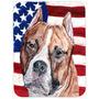 Staffordshire Terrier Staffie Bull Com Bandeira Americana Eu
