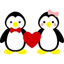 Adesivo Decorativo Cozinha Geladeira Parede Pinguim 018