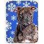 Staffordshire Bull Terrier Staffie Inverno Flocos De Neve De