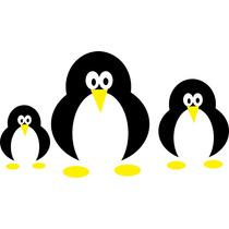 Adesivo Decorativo Cozinha Geladeira Parede Pinguim 016