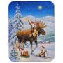 Natal Gnome Equitação Da Rena De Vidro Tábua Grande Acg01