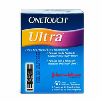 Tiras Reagentes Onetouch Ultra Johnson 50 Uni Glicemia 3 Cx