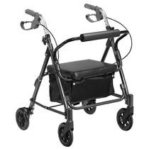Andador 4 Rodas Prata/verde - Mobil Saúde