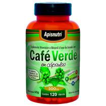 Café Verde - 500mg - 120 Cápsulas - Apisnutri - Frete Grátis