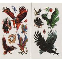 Kit Com 87 Tatuagem Temporária Motivo Aguia Tribal Frete Gra