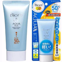 Biore Protetor Solar Facial Aqua Rich Face 50g Milk N Brasil