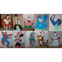 Personagens Diversos - Decoração Festa - Display Em Mdf